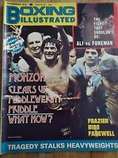 Vintage BOXING ILLUSTRATED Magazine November 1976 CARLOS MONZON Cover