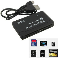 USB 2.0 All in One Multi Memory Card  Reader USB TF MS Mini Micro SD HC XD Black