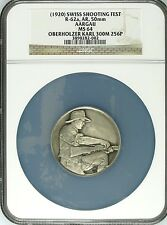 Swiss Silver Shooting Medal Aargau R-62a Karl Oberholzer Switzerland NGC MS64