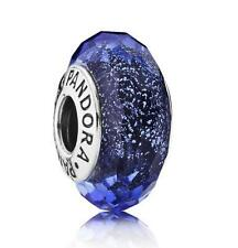 Authentic Pandora Genuine 925 Blue Fascinating Iridescence Charm - 791646