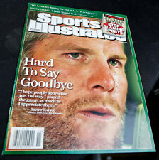 BRETT FAVRE SPORTS ILLUSTRATED MAGAZINE 08 NO LABEL GREEN BAY PACKERS