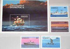 DOMINICA 1984 856-59 Block 89 842-46 Freight Ships Frachtschiffe Schiffe MNH