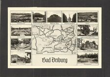 POSTCARD:  BAD DRIBURG, GERMANY - SEVERAL VIEWS & MAP OF AREA - Mailed, 1950s?