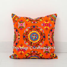 """Suzani Embroidered Decor Throw Pillow Cushions Extra Large Pillow Cover 20X20"""""""