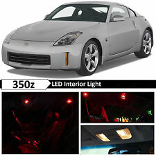 9x Red Interior LED Light Package Kit for 2003-2009 350z Fairlady Z + TOOL