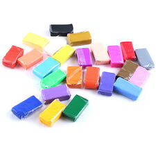 Colorful Fimo Effect Polymer Clay Blocks Soft Moulding Craft Creative Fun 24Pcs