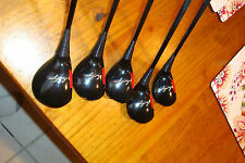 Vintage Ben Hogan Apex #1 Driver, 3, 4, 5 & 6 Fairway Woods Golf Clubs Graphite