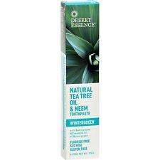 Desert Essence Natural Tea Tree Oil And Neem Toothpaste Wintergreen - 6.25 Oz