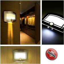 LED Light-Operated Wireless Motion Sensor Battery Power Sconce Wall Light NEW