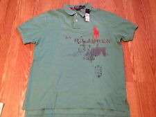 Polo Ralph Lauren aqua blue orange big pony explorer distressed vintage shirt XL