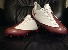 NEW Mens Nike Air Zoom Vapor Jet 4.2 Football Cleats White / Maroon Size 8 Speed