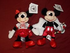 "Disney Parks Mickey and Minnie Valentine's Day Cupid Plush Doll Toy Set 9"" (NEW)"