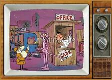 "THE PINK PANTHER TV Fridge MAGNET  2"" x 3"" art SATURDAY MORNING CARTOONS"