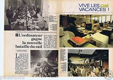 Coupure de presse Clipping 1981 L'Ordinateur et la bataille du rail (5 pages)