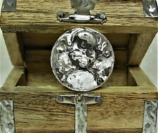 MK BARZ SHIP WRECK 1TR.OZ. 999 FINE SILVER BULLION POURED BAR & TREASURE CHEST