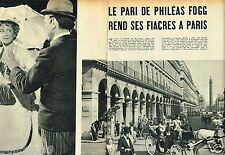 Coupure de Presse Clipping 1955 (4 pages) Philéas Fogg Tour du monde en 80 jours