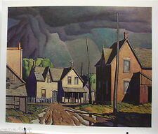A.J. CASSON group of seven Thunderstorm art print RARE with biography