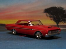 1964 64 PLYMOUTH FURY MAX WEDGE COLLECTIBLE MOPAR MODEL 1/64 SCALE - DIORAMA