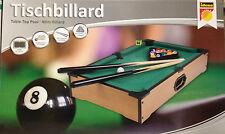 Mini Tischbillard Billard Set 52x31x10cm mit 15 Kugeln Queues Triangel Tisch