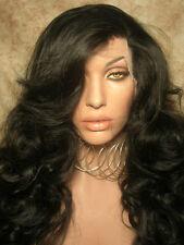 Loose curl lace front wig 1b, Kim K, Kim Kardashian lace front wig, long wig
