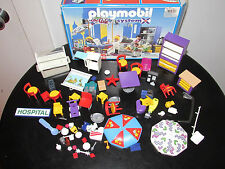 PLAYMOBIL CITY CAFE SYSTEM X 3989, 3959 INCOMPLETE PARTS ACCESSORIES NO FIGURES