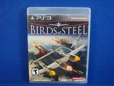 ps3 BIRDS OF STEEL The Real Combat Flight Simulator *x MINT DISC Playstation