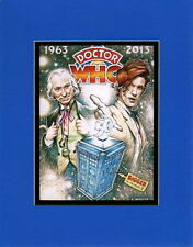 DR WHO - 50 YRS 1963 to 2013 PRINT PROFESSIONALLY MATTED