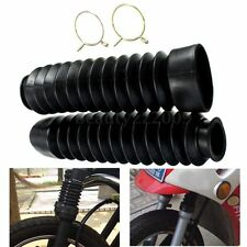 2pcs Front Fork Motorcycle Black Rubber Boots Dust Jacket Cover 200x50x38mm