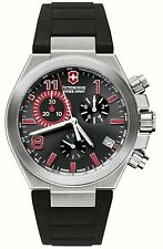NEW Victorinox Swiss Army 241318 Men's  Convoy Black Dial Watch Chronograph