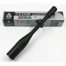 Tactical Leapers UTG Hunting Scope 6-24X50 Optical Sight Mil Dot Rifle Scope RGB