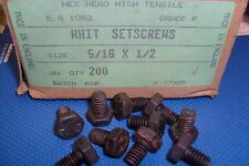 5/16 WHITWORTH X 1/2 BLK HIGH TENSILE HEXAGON HEAD SETSCREW BOLTS QTY (10)