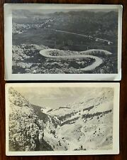 WINDING MOUNTAIN ROAD TO MONTENEGRO SPAIN 2 Photo Postcards 1920s-30s