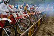 592073 Motocross Racers At Starting Line Motor Sport A4 Photo Print