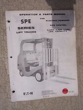 1973 Yale SPE Series Lift Truck Operation & Parts Manual Electric SCR    F