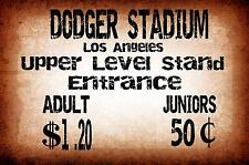 Dodgers Stadium los angelesVinatge Style Metal Sign Baseball Sign