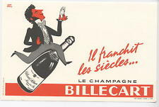 Buvard CHAMPAGNE BILLECART MAREUIL SUR AY ILLUSTRATION D HERVE MORVAN  EPERNAY
