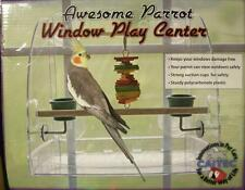 Window Play Pen Center-Get Max Vit D- No Mess Feeder by Caitec - Bird Alert!!