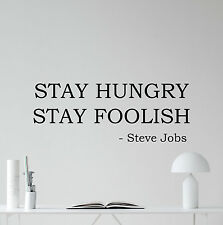 Steve Jobs Quote Wall Decal Stay Hungry Apple Iphone Vinyl Sticker Decor 55quo