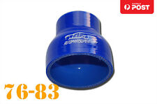 """4 Ply Silicone Straight Reducer Joiner Hose Pipe 76mm-83mm 3"""" - 3.25"""" 3-1/4"""" BL"""
