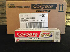 48 Tubes! Colgate Toothpaste Total Clean Mint .75 oz Bulk  Travel WHOLESALE Lot