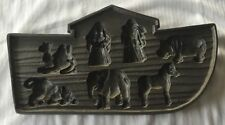 Vintage Cast Iron Noah's Ark Cookie / Chocolate Molds - Animals, Religious