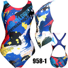 NWT YINGFA 958-1 COMPETITION TRAINING RACING SWIMSUIT XXL US MISS 10-12 Sz 34/36