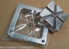French Fry Cutter 6 Wedge Blade & Pusher Set Stainless Steel Blade & Pusher Only