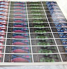 X-FILES Uncut Sheet Australian promo bookmark Rare Collectable + 2 posters NEW