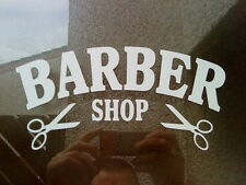 barber shop sign scissors window mirrors doors salon barbers vinyl sticker decal