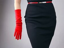 Cashmere Wool Gloves Opera Evening Long Arm Warmers Sleeves Merino Hepburn Black