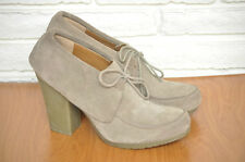 Nine West Women's Taupe Suede Ankle Boots with Rubber High Heel  Desert Boot 10
