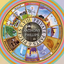 Anthony Phillips-Private Parts & pieces V-VIII - 5cd Deluxe CLAMSHELL BOX 5cd NUOVO