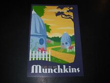 THE WIZARD OF OZ Art 4X6 Postcard MUNCHKIN LAND like poster print Steve Thomas