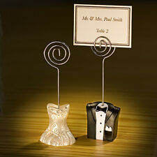 Bride And Groom Couple Wedding Place Card Holders Wedding Favors